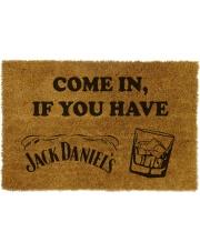 Wycieraczka kokosowa z napisem Come In If You Have Jack