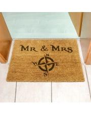 Wycieraczka wejściowa z nadrukiem Mr & Mrs Podróżniccy